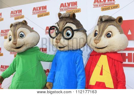 LOS ANGELES - DEC 12:  Alvin and The Chipmunks at the