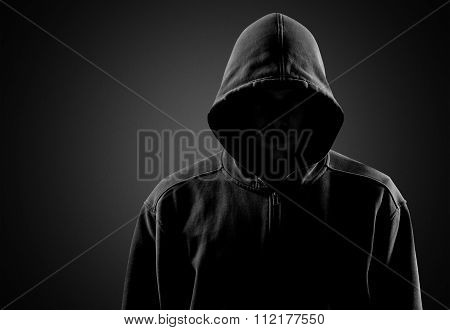 Hooded gangster.