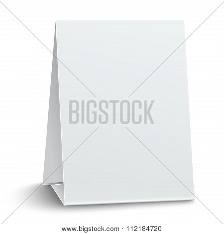 Blank Paper Table Card Isolated