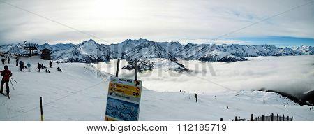 Ski Slpoe At Wald Wildkogel Austria