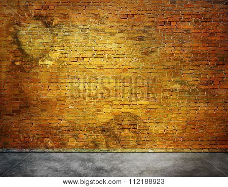 Old Brick Wall With Stains