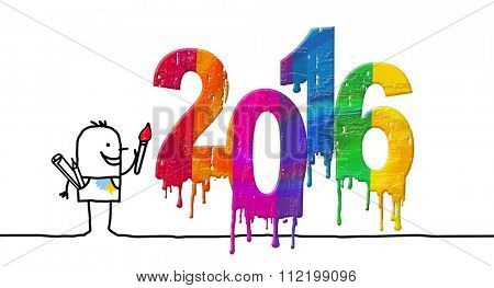 Painter and fresh colored 2016