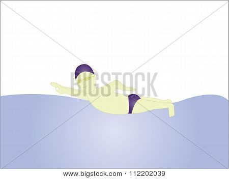 the male swimmer