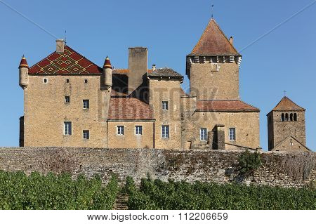Pierreclos castle in Burgundy, France