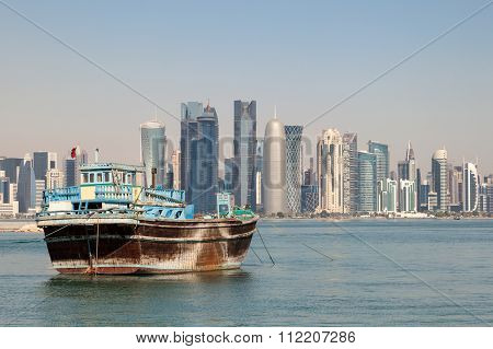 Doha City Skyline, Qatar
