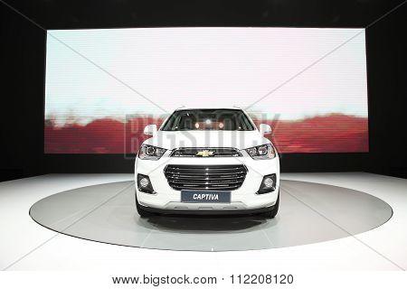 Bangkok - December 11: Chevrolet Captiva Car On Display At The Motor Expo 2015 On December 11, 2015