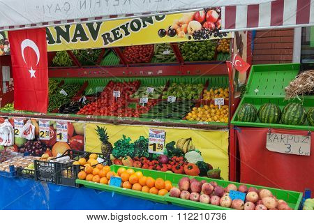 Fruiterer's shop in Turkey
