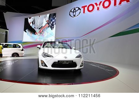 Bangkok - December 11: Toyota Ft-86 Open Concept Car On Display At The Motor Expo 2015 On December 1