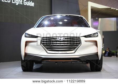 Bangkok - December 11:hyundai Intrado Car On Display At The Motor Expo 2015 On December 11, 2015 In