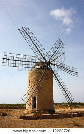 La Mola Windmill on Formentera