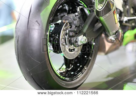 Bangkok - December 11 : Zoom Dish Brake Of Kawasaki Ninja Motorcycle On Display At The Motor Expo 20