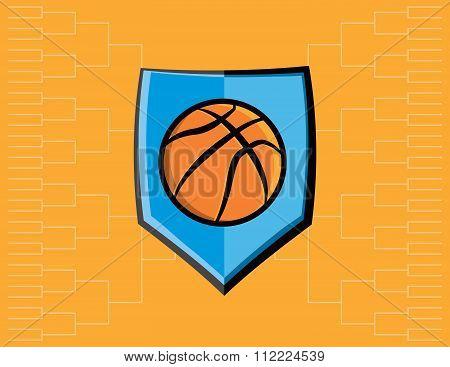 Basketball Emblem And Tournament Background