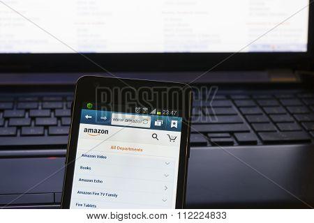 Home Page Of  Amazon.com