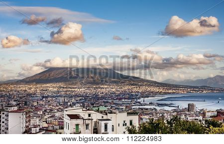 Naples and mount Vesuvius