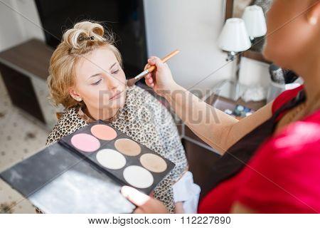 Makeup Brushes, Closeup.