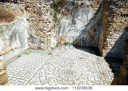 Ancient Ruins Of Villa Adriana ( The Hadrian's Villa ), Hospitalia, Tivoli, Italy