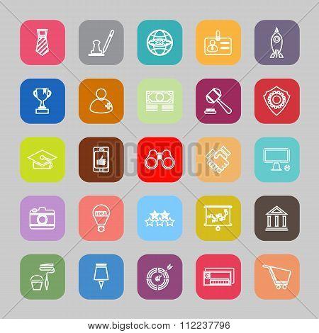 SME Line Flat Icons