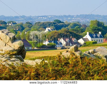 Seacoast on the Guernsey island