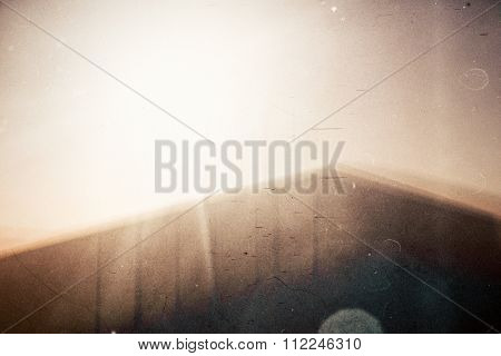 Abstract film background. Lot of grain, scratches and dust.
