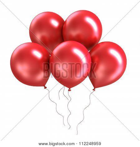 Bunch of bright colorful shiny ballon