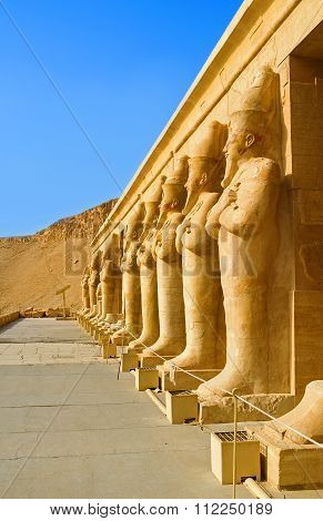 The Monumental Statues In Hatshepsut Temple