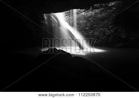 Natural Bridge Waterfall