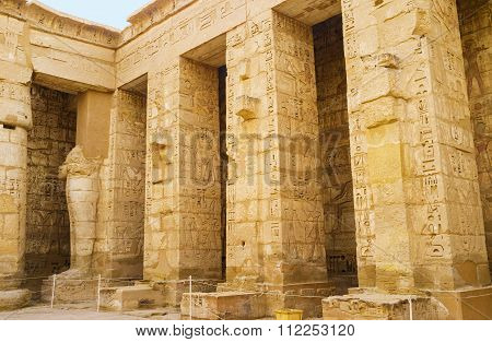 The Columns With The Hieroglyphs