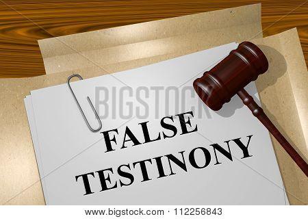 False Testimony Concept