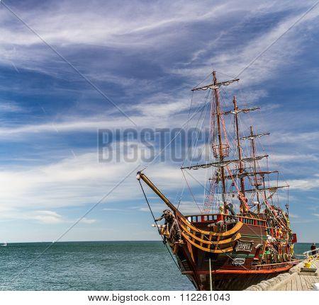 Pirate galleon in Sopot