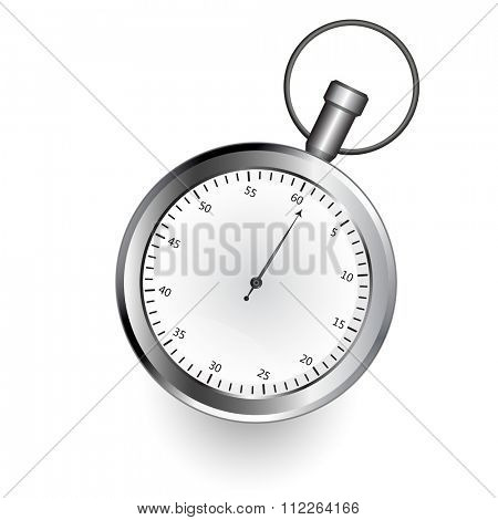 Stop watch isolated on white background illustration.