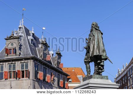 Monument Of Jan Pieterszoon Coen In The Center Of Hoorn, The Netherlands