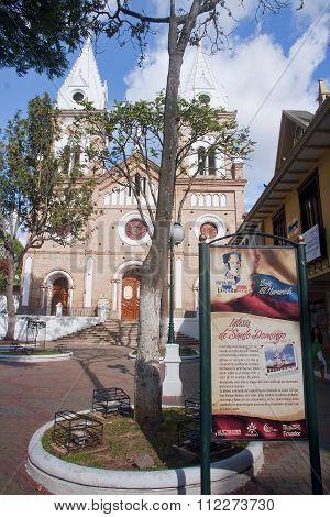 Loja, Ecuador - November 29, 2015: One Of The Historic Churches
