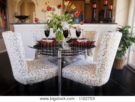 Semi Formal Glass Table