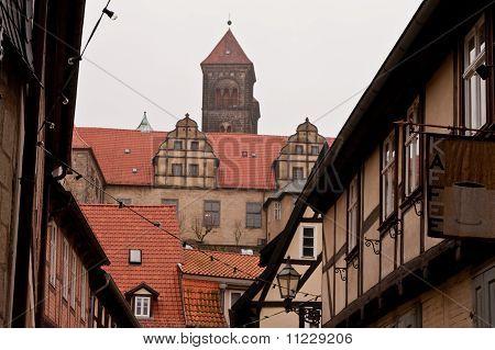 Quedlinburg old town homes and castle