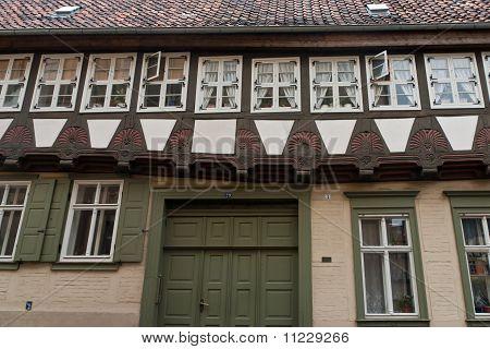 Quedlinburg old town streets