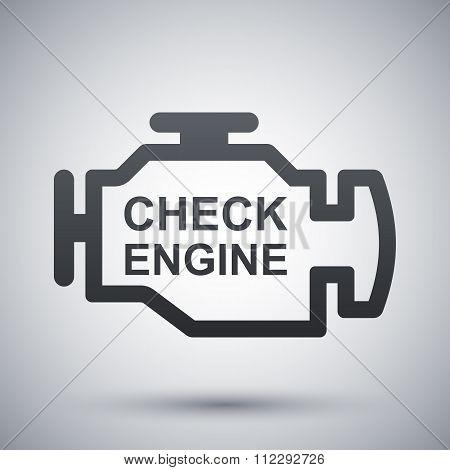 Vector Check Engine Icon