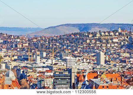 View Over Stuttgart, Townhall, City Center