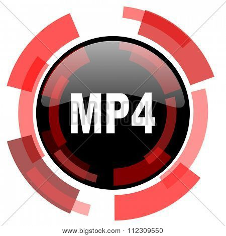 mp4 red modern web icon