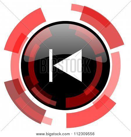 prev red modern web icon