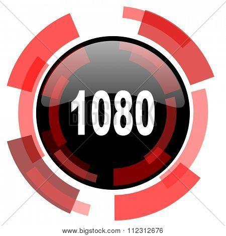 1080 red modern web icon