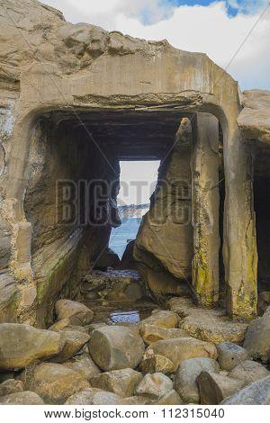 La Jolla California Cave Entrance Tide Pool Ruins