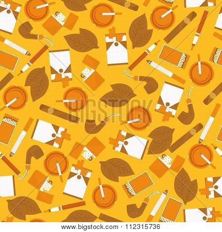 Seamless Pattern Of Smoking Accessories