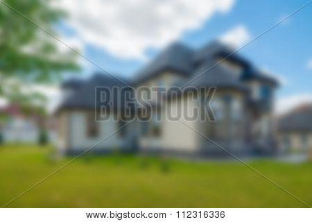 Luxury house exterior theme blur background