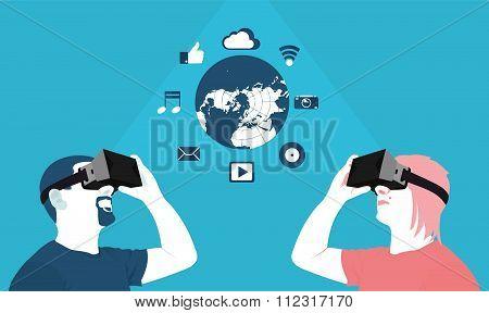 Long Distance Communication, Virtual Reality