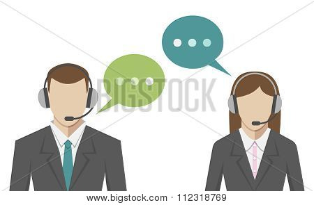 Man, Woman, Call Center