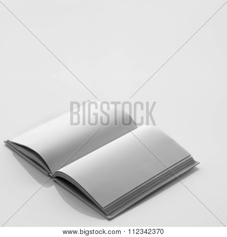 Book With Blank Page.