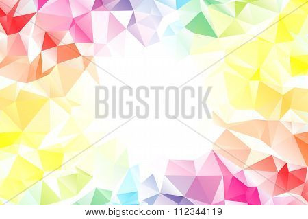 Spectrum polygon background or vector frame
