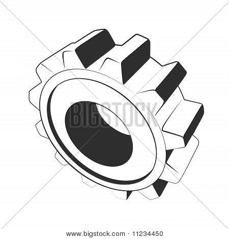 gear stencil