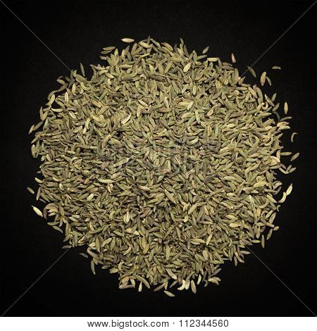 Top view of Organic Aniseed.