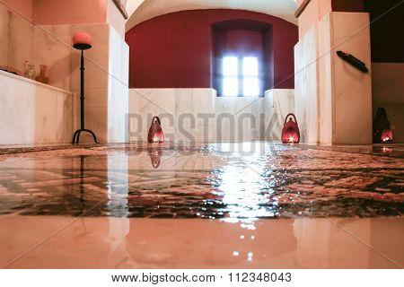 Bathhouse Rebuilt As Roman Bath Style